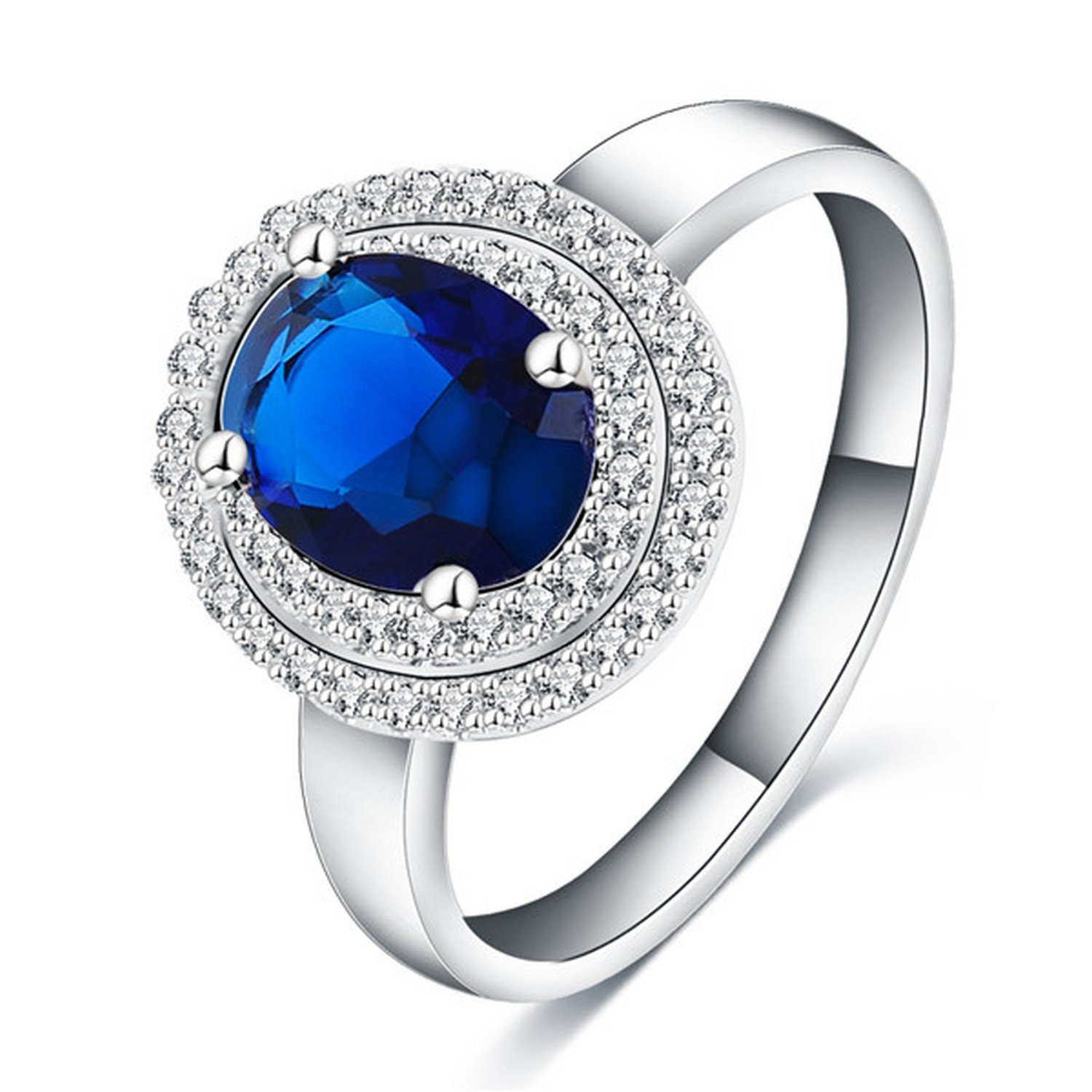 Slyq Jewelry Top Women Promise Rings Silver Color Micro Inlay Cubic Zircon Rings Fine Jewelry Anillos