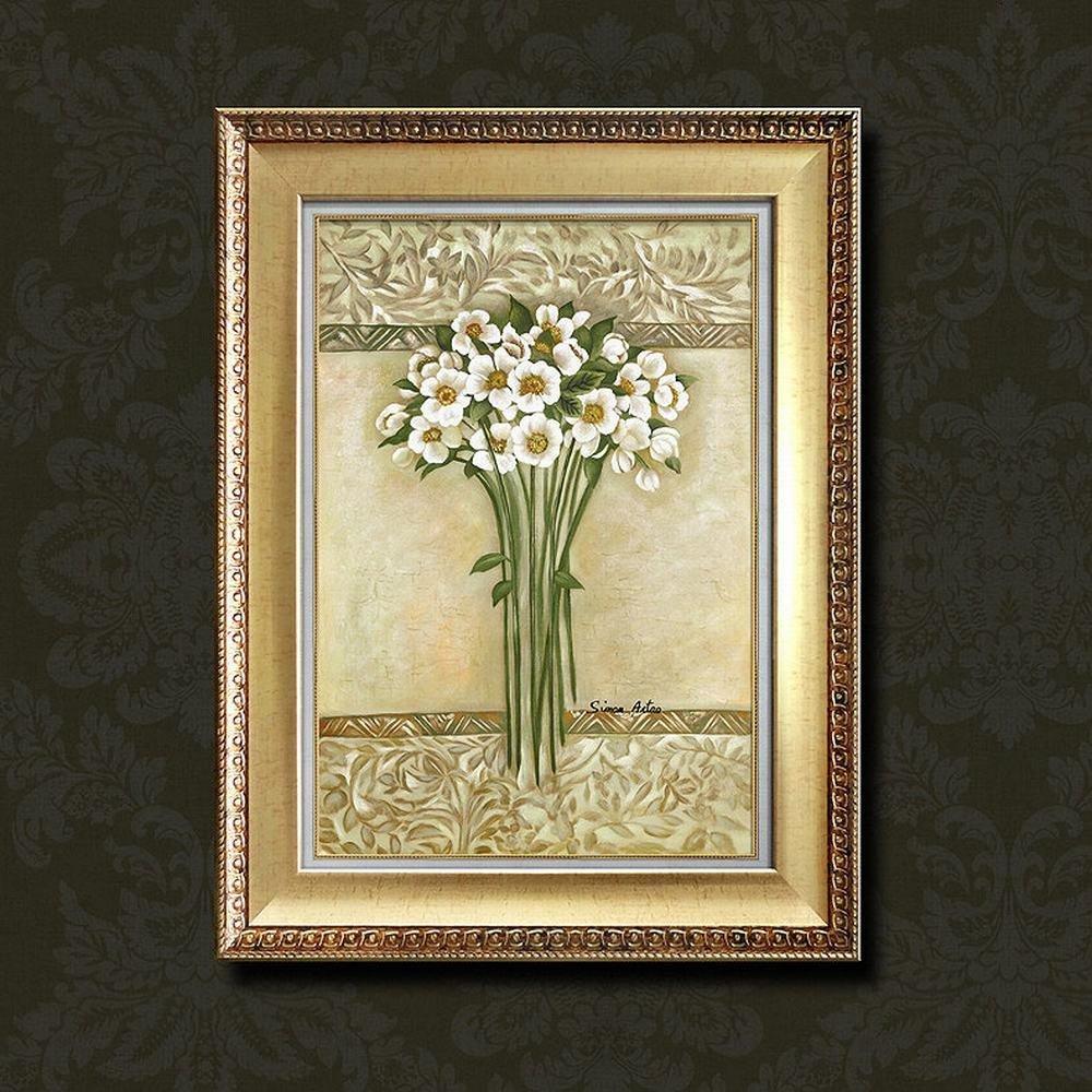 SED Papel de Aluminio Caja de Sala de Triple Pintura Pintura de Pintura de Pintura Decoración de la Casa de Pintura,Do,65x85cm