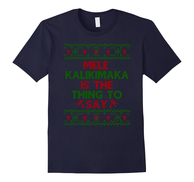 Funny Mele Kalikimaka Hawaiian Ugly Christmas Sweater Shirt-ANZ
