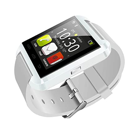 Bluetooth U8 Smartwatch Digital Wrist Watch Phone Mate w/Remote Camera Control, Passometer (White)