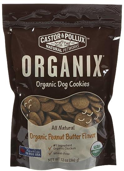 Castor Pollux Organix Dog Cookies Peanut Butter 12 oz Amazoncom