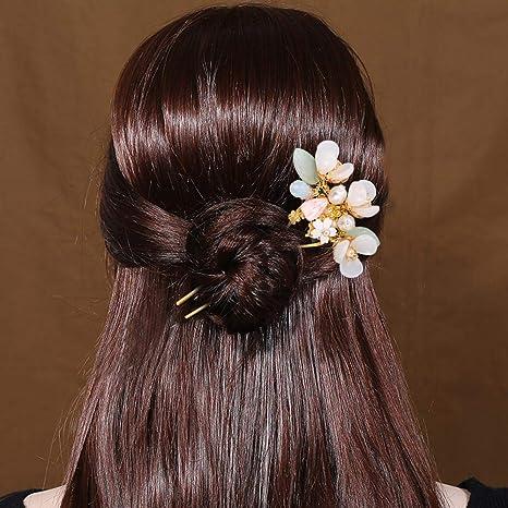 HAIR PIN HAIR CLIP GREEN HAIR CHOP STICK CHINESE//JAPANESE HAIR CHOPSTICKS