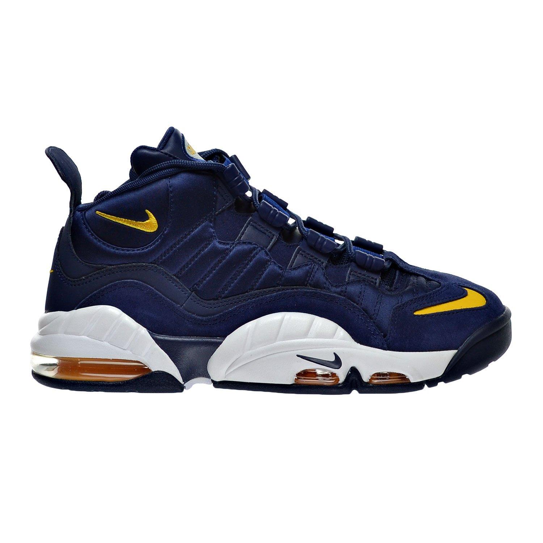 best sneakers ce628 d7b96 60%OFF Nike Air Max Sensation Men s Shoes Midnight Navy University Gold  White Metallic 805897.