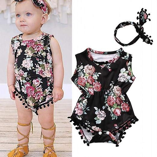 58f703a8d48 Mealeaf ❤ Newborn Infant Toddler Baby Girls Floral Romper Jumpsuit Sunsuit  Clothes Set