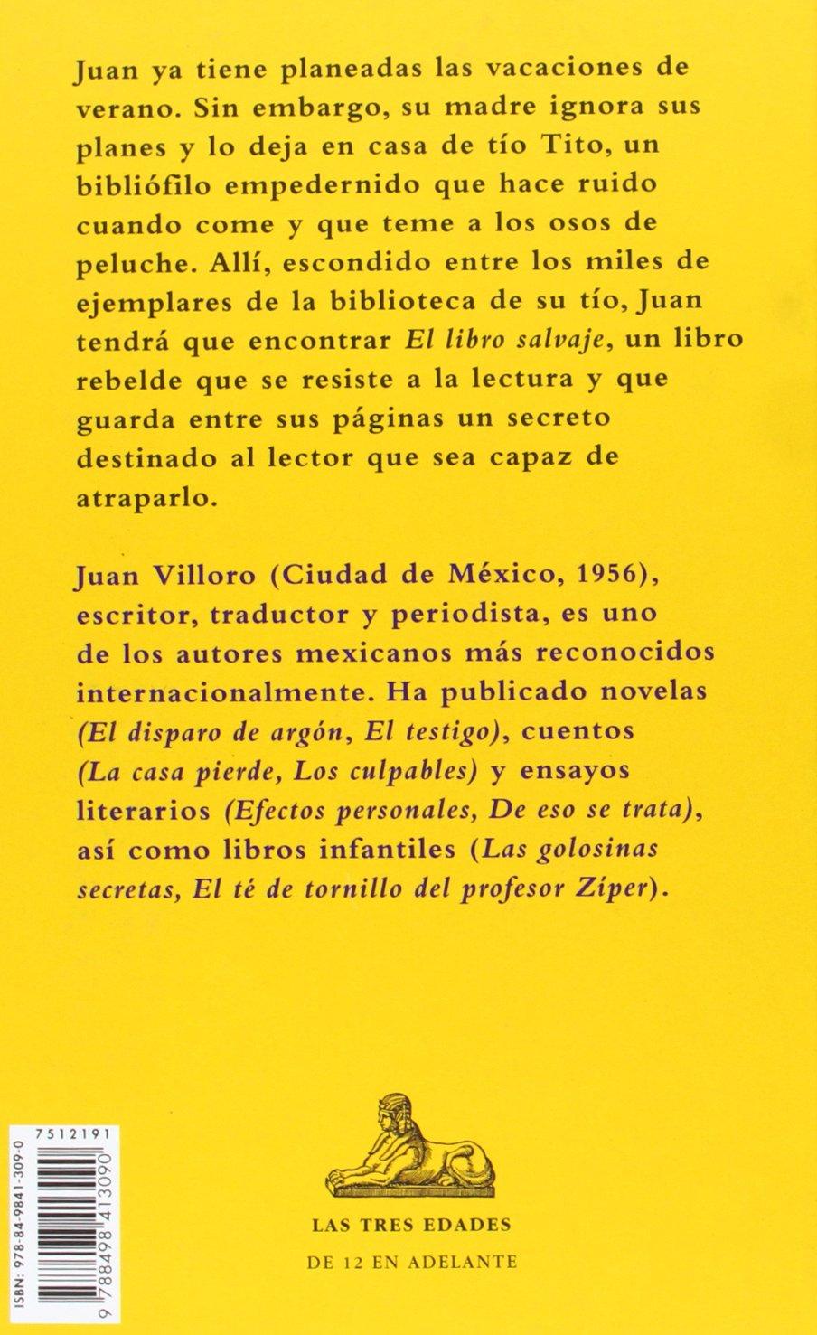 El libro salvaje (Las tres edades / The Three Ages) (Spanish Edition): Juan Villoro: 9788498413090: Amazon.com: Books