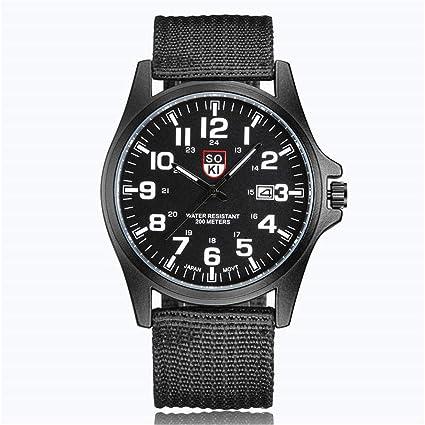 SUPERON Mens Watches top Luxury Couple Fashion Nylon Strap Analog Quartz Round Wrist Watch Watches reloj