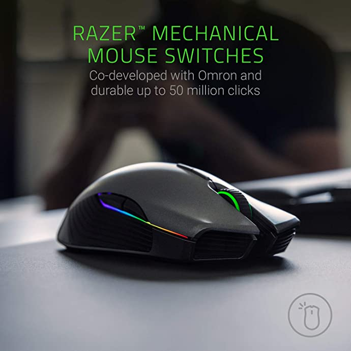Razer 雷蛇 Lancehead 锐蝮蛇 无线版 双手通用 幻彩游戏鼠标 5.4折$64.92 海淘转运到手约¥467