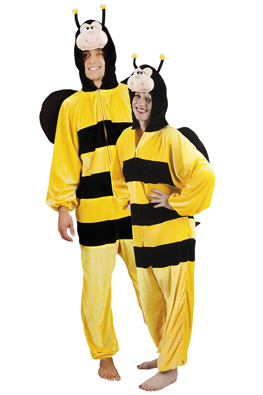 Halloweenia - Herren Motto-Party Karneval Kostüm Honig Biene, Biene, Biene, Onesie, Komplett-Jumpsuit, One Größe, Gelb e1d8d4