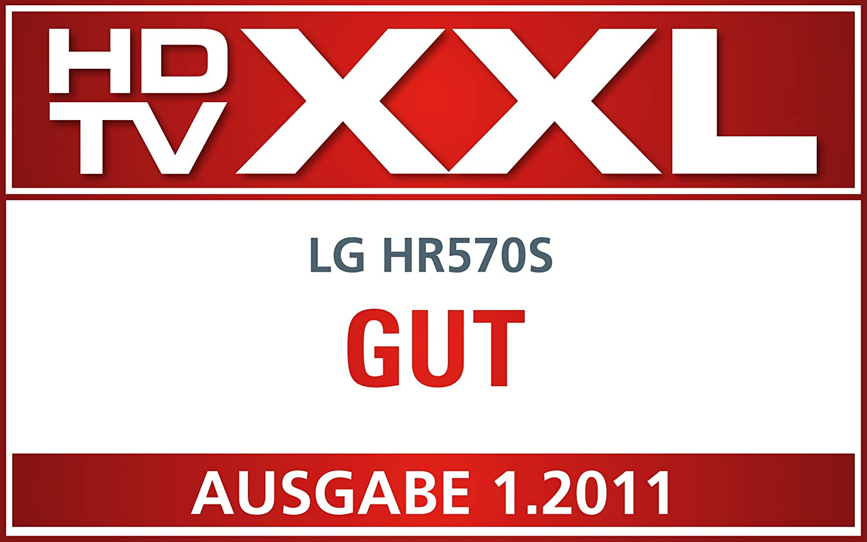 3D Blu-ray, 500 GB, DVB-S2 HD Tuner, DLNA LG HR570S 3D Blu-ray Player// Festplattenrekorder schwarz