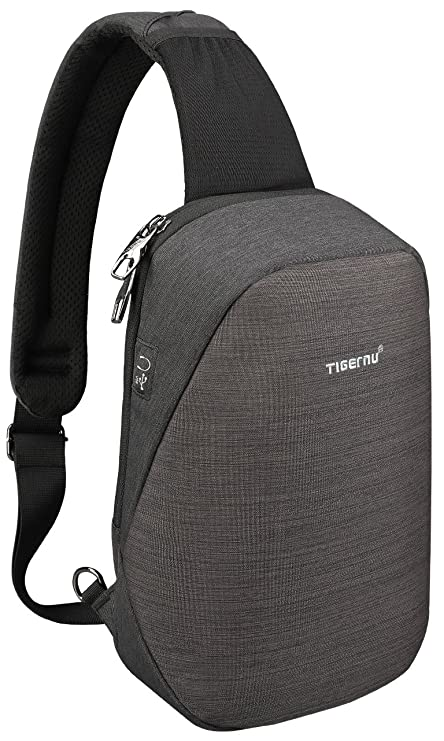 Tigernu Sling Bag, Crossbody With Headphone Port Water Resistant Bags Men Women by Tigernu