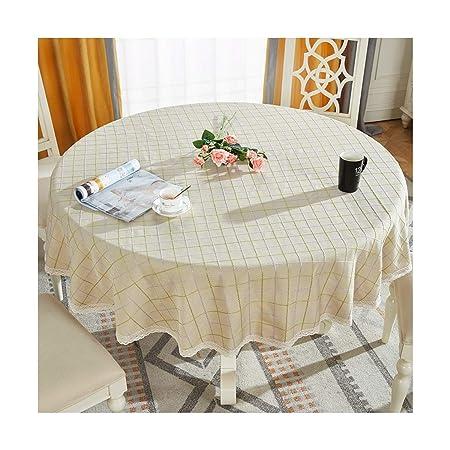 Mesa Redonda de Tela de algodón Cubierta de Tabla de Lino Mantel ...