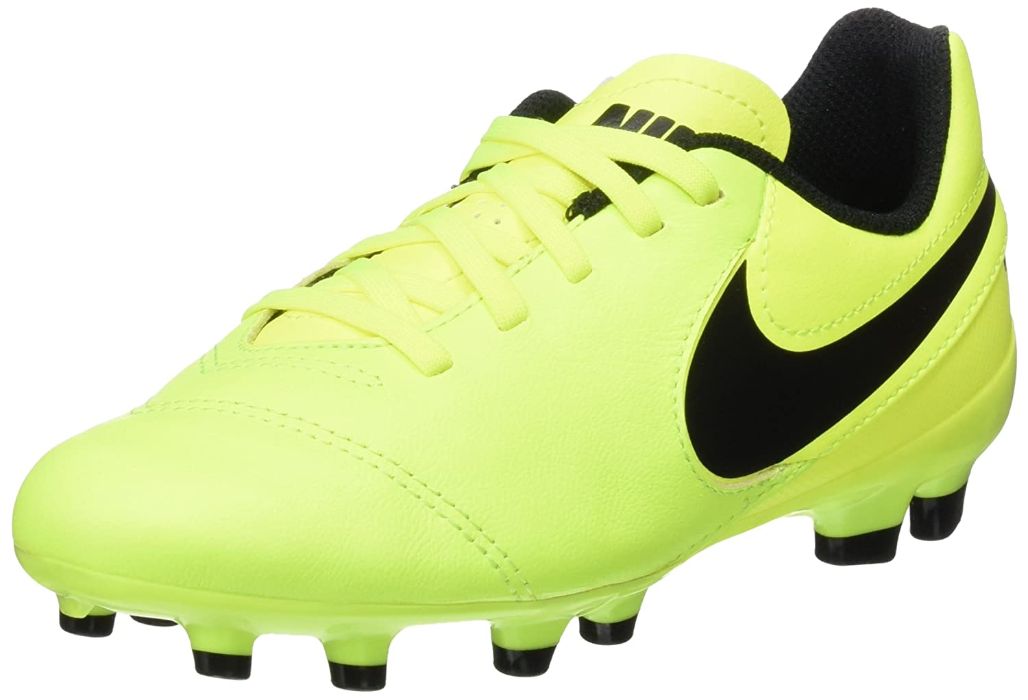 b12b436f205 Nike Kids JR Tiempo Legend VI Fg Volt Black Volt Soccer Cleat 5 Kids US   Amazon.ca  Shoes   Handbags