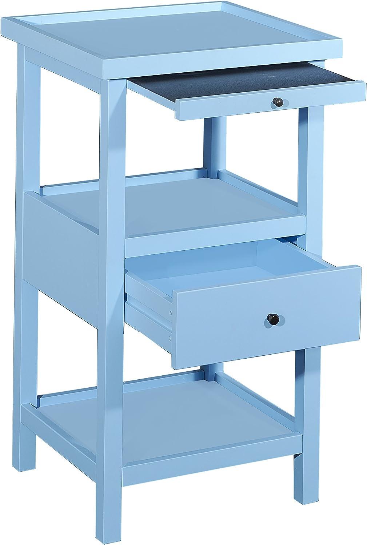 Powell Furniture Palmer Ocean Blue Shelf Side Table, Small