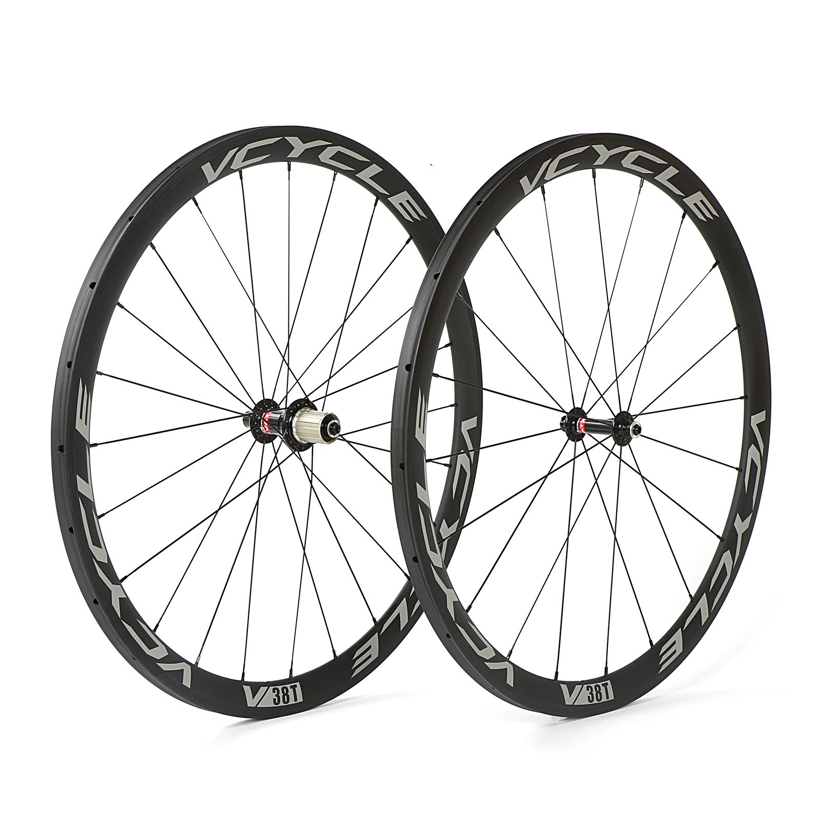 VCYCLE 700C Carbono Bicicleta Ruedas 38mm Tubular UD Mate Ultra Ligero Shimano o Sram 8/
