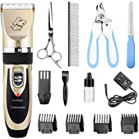 Ceenwes Dog Clippers Low Noise Pet Clippers Rechargeable Dog Trimmer Cordless Pet…