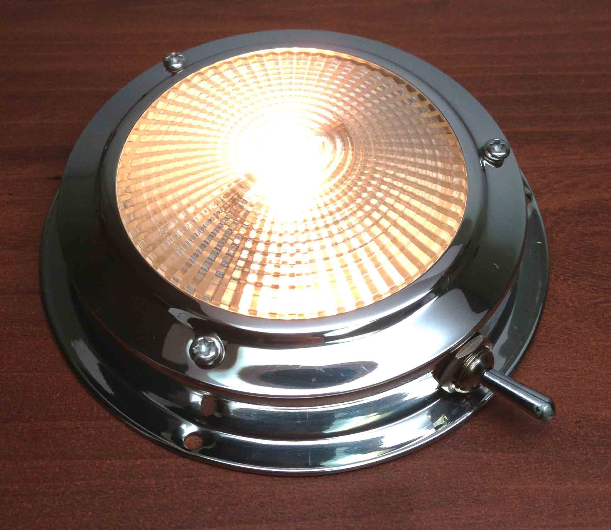 Pactrade Marine Boat Lens Accent Dome Light Stainless Steel With Toggle Swath