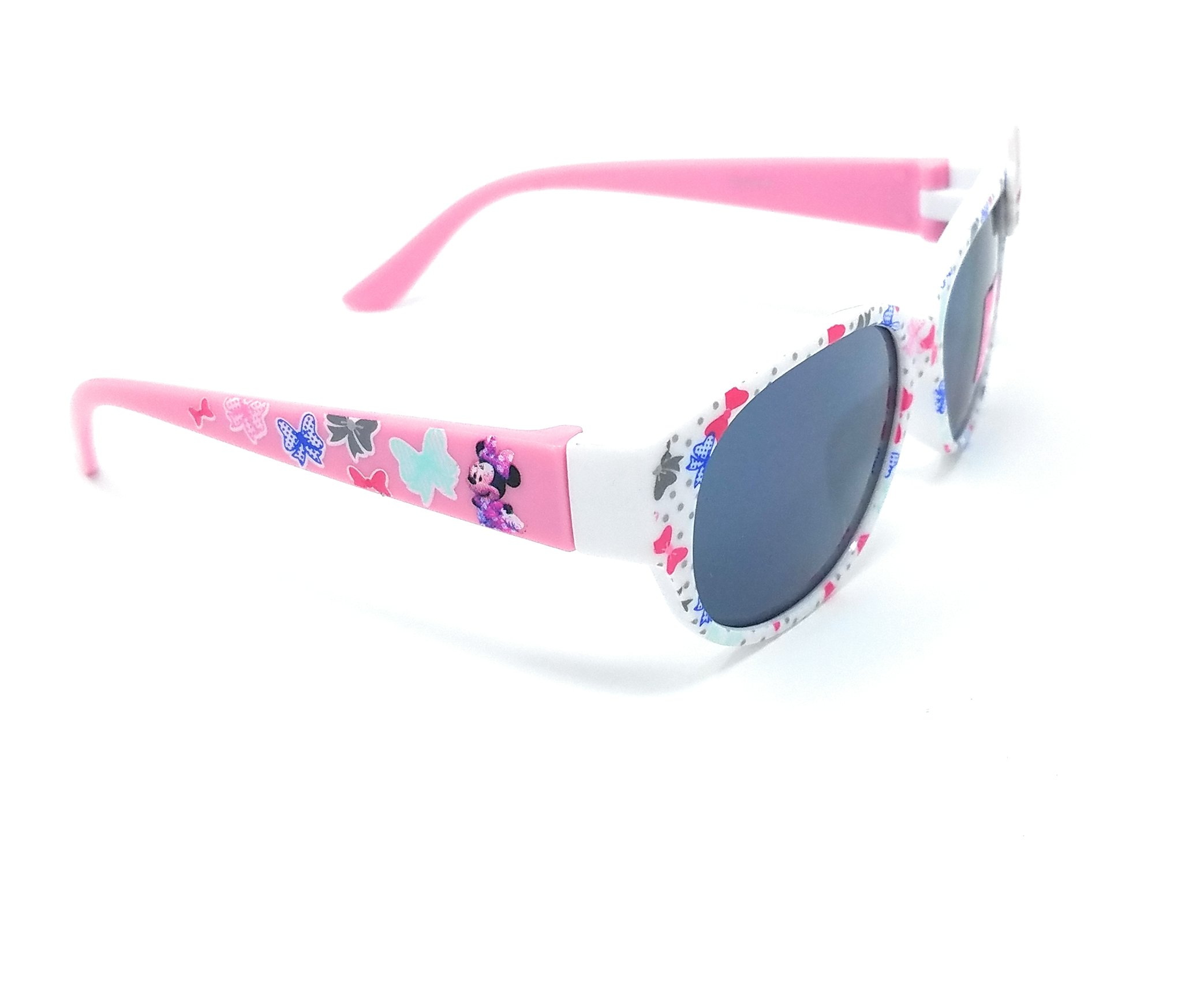 Disney Store Girl's Minnie Mouse Sunglasses in White and Pink with Cute Bow by Pan Oceanic Eyewear LTD (Image #3)