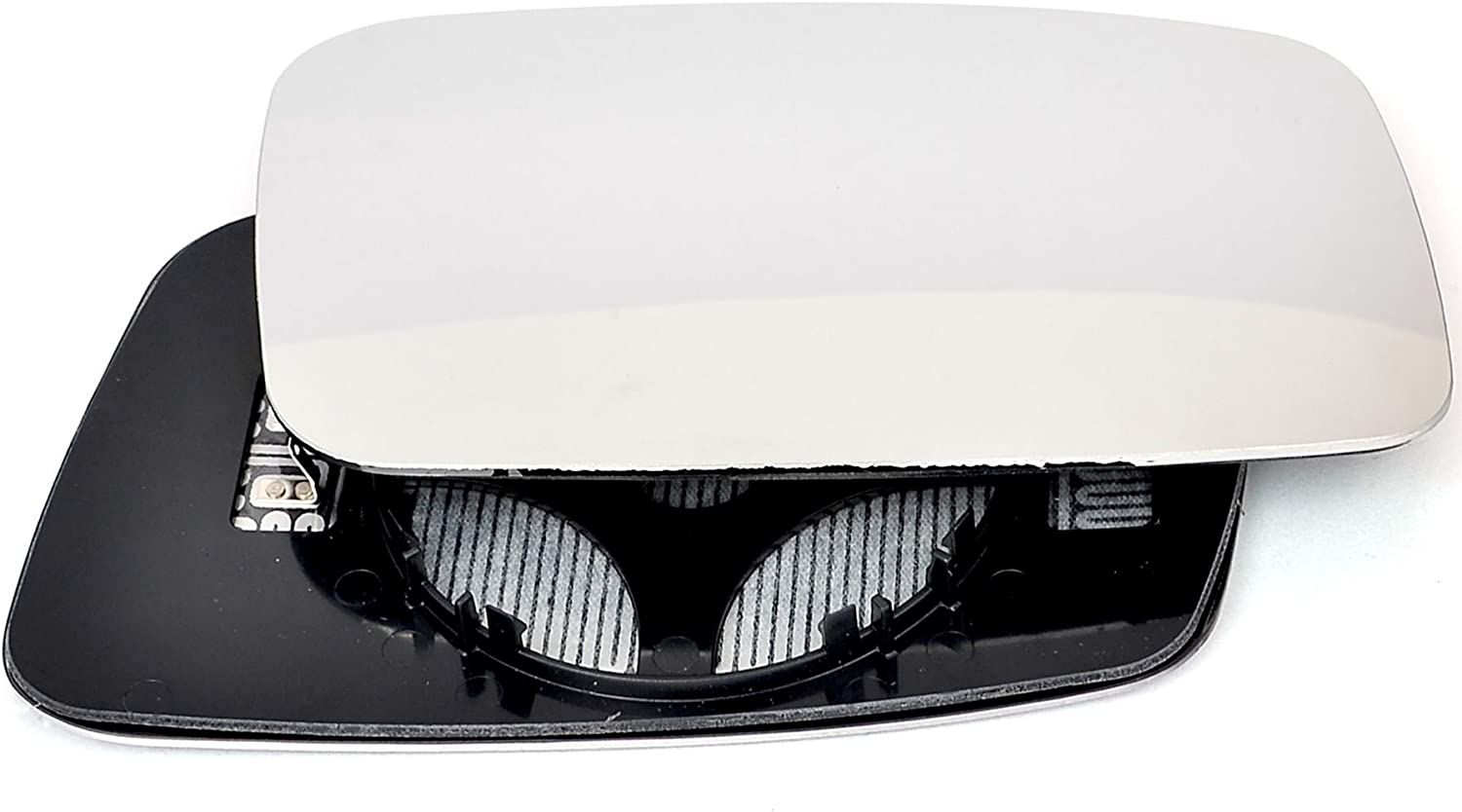 Driver right hand side Heated wing door Silver mirror glass with backing plate #C-SHY//R-VOC7097 Clip On