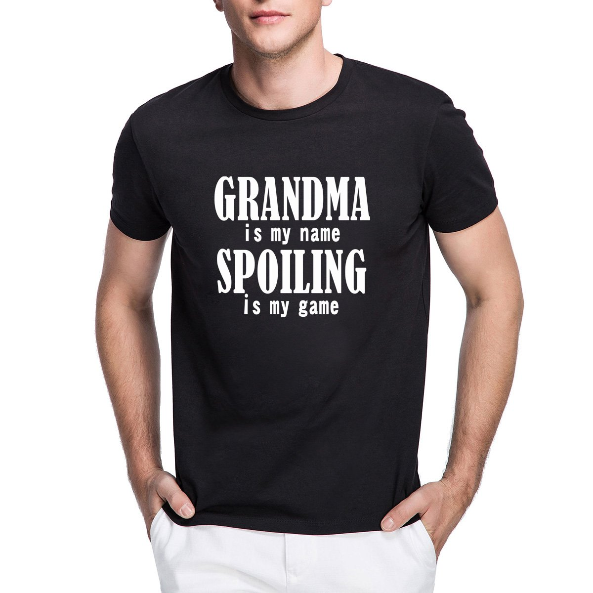 Loo Show Grandma Is My Name Funny Crew Short Sleeve T Shirts Casual Tee
