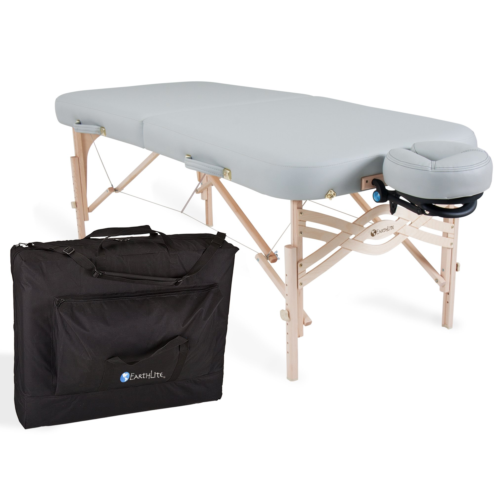 "EARTHLITE Spirit Premium Portable Massage Table Package - Spa-Level Comfort, Deluxe Cushioning incl. Flex-Rest Face Cradle & Strata Face Pillow, Carry Case (30/32"" x 73"")"