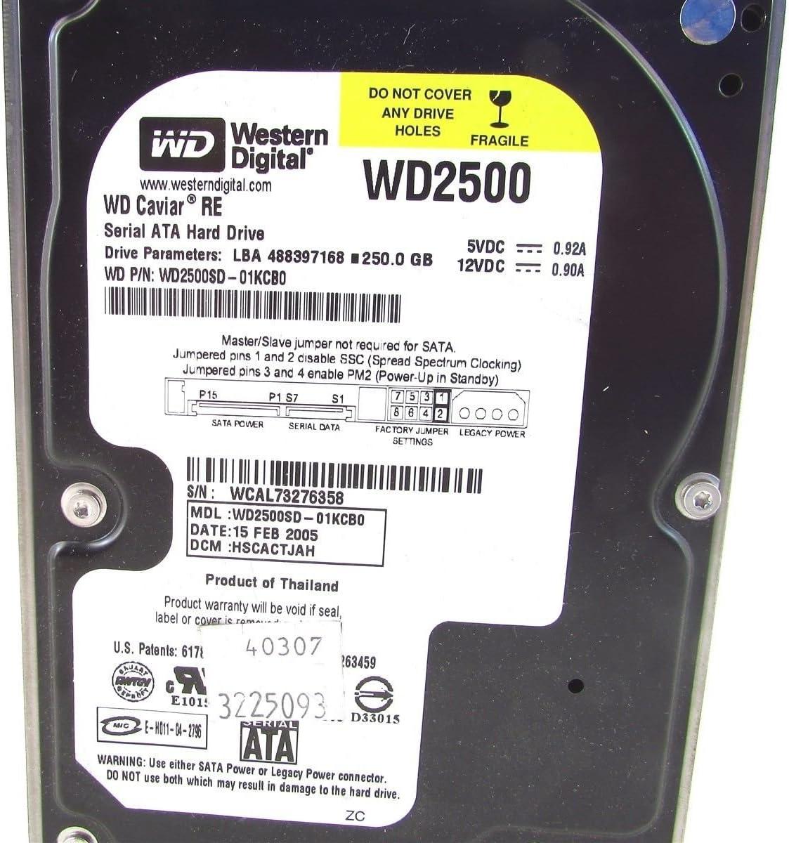 HSBHCTJAH WD Caviar SE WD2500SD-01KCB0 250GB SATA Hard Drive