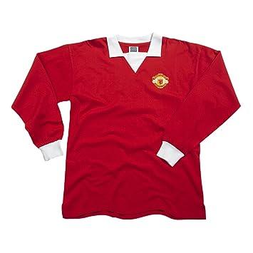 8bc0b0738 Score Draw Official Retro Manchester United 1973 No7 Long Sleeve Men s  Retro Football Shirt - Red