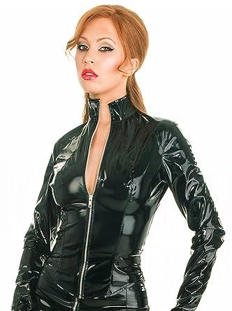 0a6db481a2 Honour Women s Mistress Jacket in PVC Black Zip Closure Costume ...