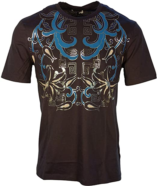 Versace Collection - Camiseta - para Hombre Blue+Stampa XXL: Amazon.es: Ropa y accesorios