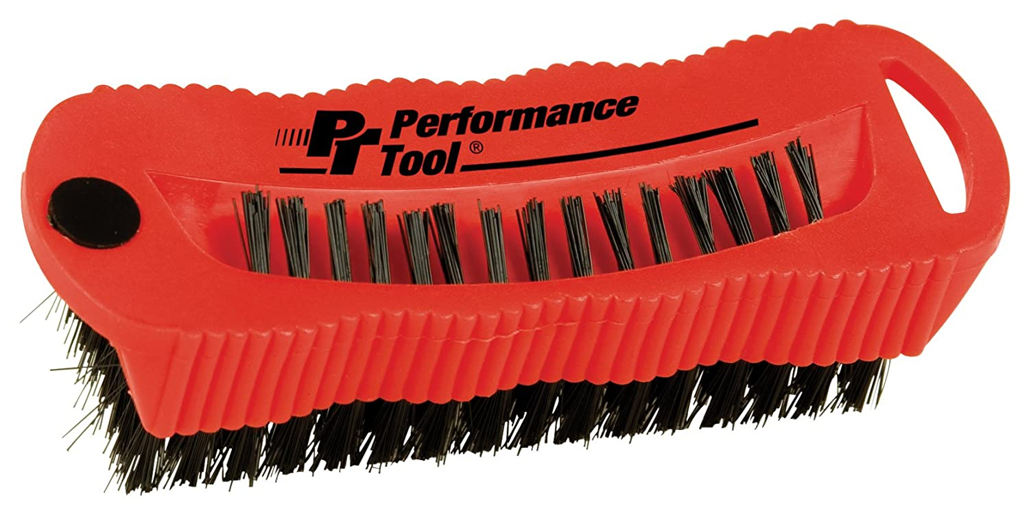 Performance Tool W9163 Combo Fingernail Brush with Magnet