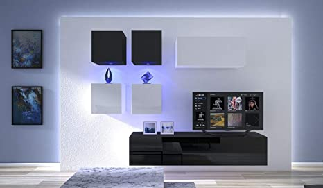 HomeDirectLTD Moderno Conjunto de Muebles modulares Blanco ...