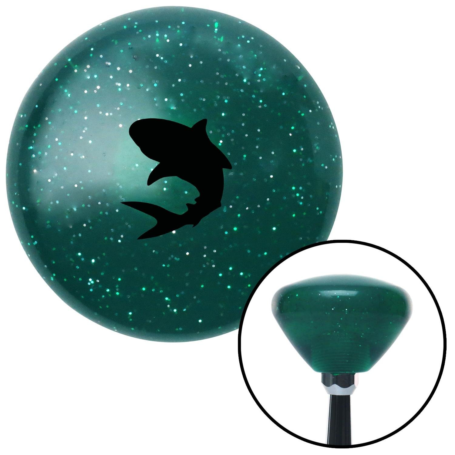 Black Shark Green Retro Metal Flake American Shifter 291479 Shift Knob