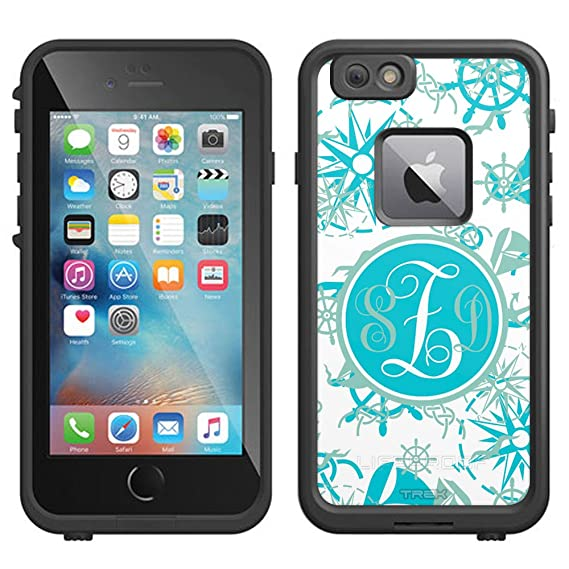 finest selection 4b8d2 90115 Amazon.com: Skin Decal Monogram for LifeProof Apple iPhone 7 Case ...