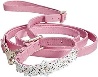 Oscar de la Renta Pink Leather Pet Collar & Leash Set Neiman Marcus + Target