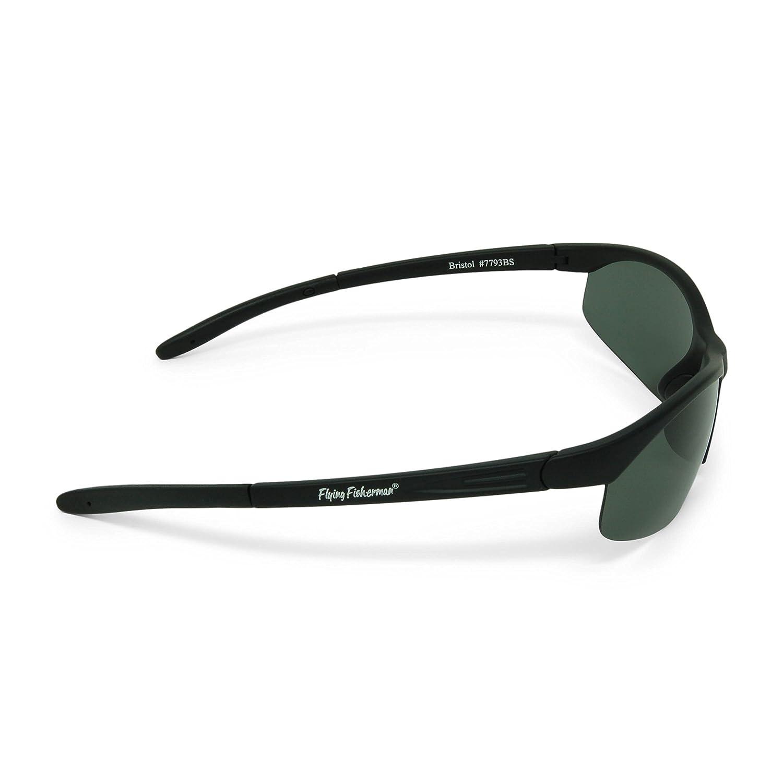 62126e0a49d6e Amazon.com  Flying Fisherman Bristol Polarized Sunglasses (Matte Black  Frame