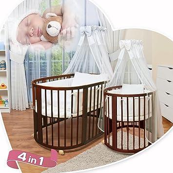 ComfortBaby © - ovales Kinderbett Babybett 5 in 1 - aus Buche ...