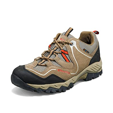 Clorts Men's Hiker Waterproof Hiking Shoe Outdoor Backpacking Trail Shoe  Khaki HKL-826D US9