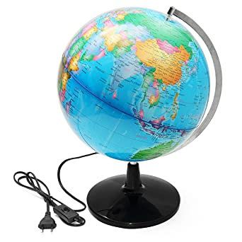 EsportsMJJ 32Cm Beleuchtete Welt Globus Geographical
