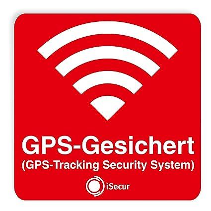 3 pieza Pegatinas Alarma, GPS, isecur®, alarmgesichert, 60 x ...
