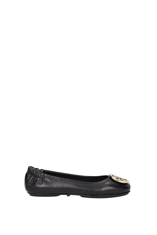 Amazon.com | Tory Burch Reva Shoes Ballet Minnie Travel Flats Soft Naplak  Leather TB Logo | Flats