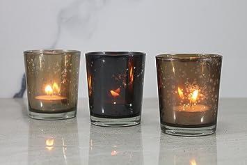 Gut Esplanade Teelichthalter/Kerzen Halter U2013 Set Von 3 U2013 Bunte Herzstück Für  Tisch