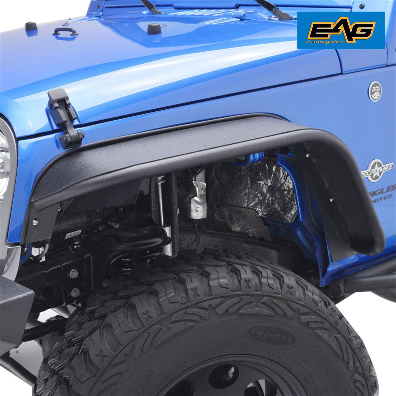 EAG JK Front Fender Flares Fit for 07-18 Jeep Wrangler JK - Steel Style
