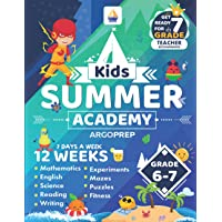 Kids Summer Academy by ArgoPrep - Grades 6-7: 12 Weeks of Math, Reading, Science, Logic, Fitness and Yoga | Online…