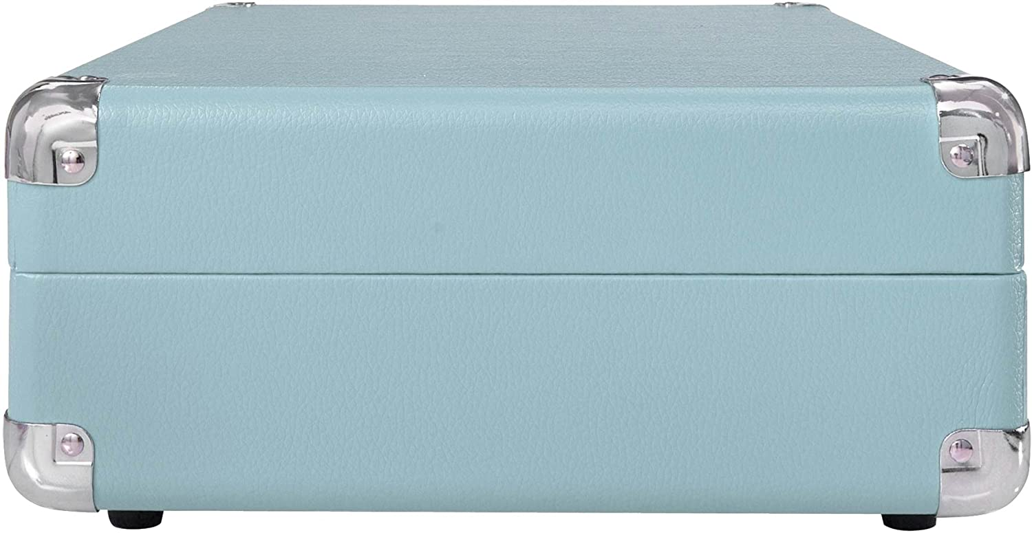 Crosley Cr8005a Tu Cruiser Portable 3 Speed Turntable Columbia Bench Grinder Wiring Diagram Turquoise Home Audio Theater