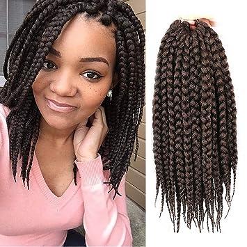 Amazoncom 12 Inch Box Braids Hair Synthetic Braid Hair Extensions