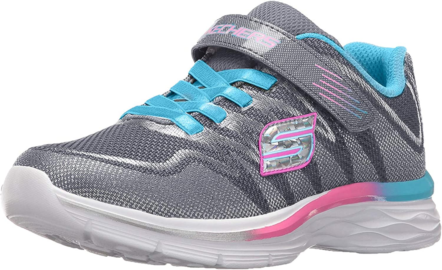 Skechers Kids Girls Dream N' Dash Whimsy Girl Velcro Strap Sneaker