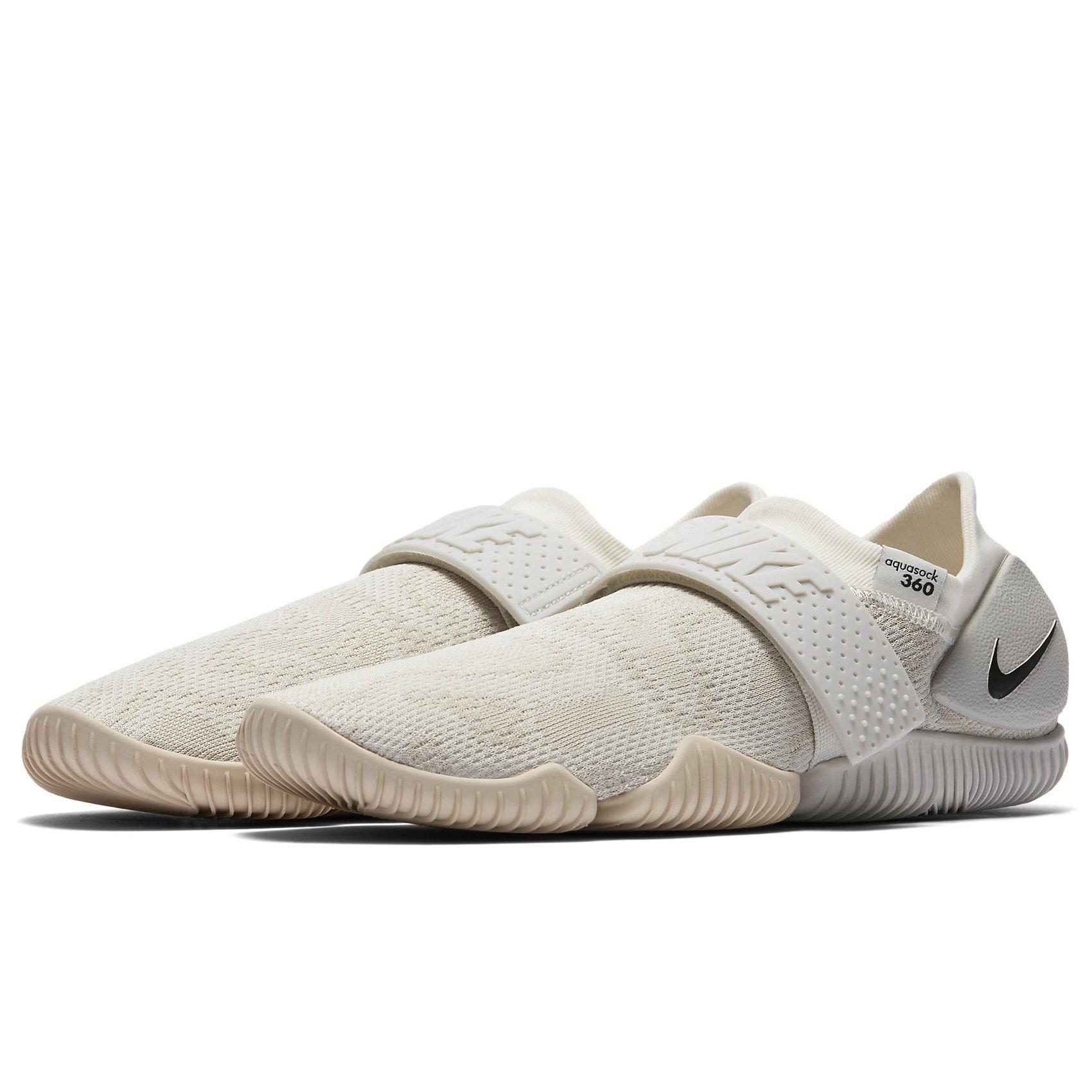 NIKE Aqua Sock 360 QS 902782 100 Oatmeal/Light Bone/Sail/Black Men's Water Shoes (8) by NIKE (Image #2)