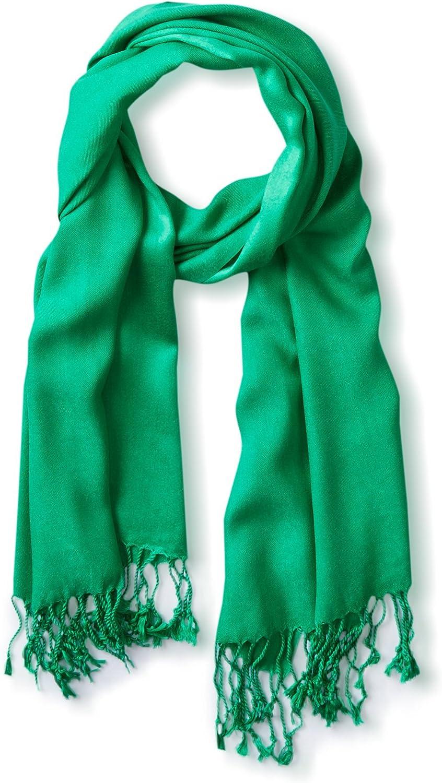 Tahari by Elie Tahari Solid Pashmina Scarf 100% Viscose Green at  Women's Clothing store