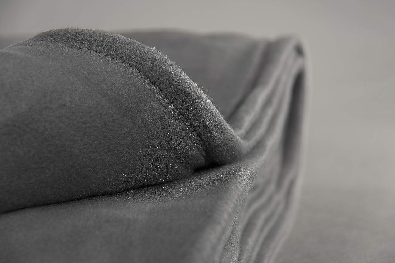 180x220cm Easytex Couverture Polaire Framboise