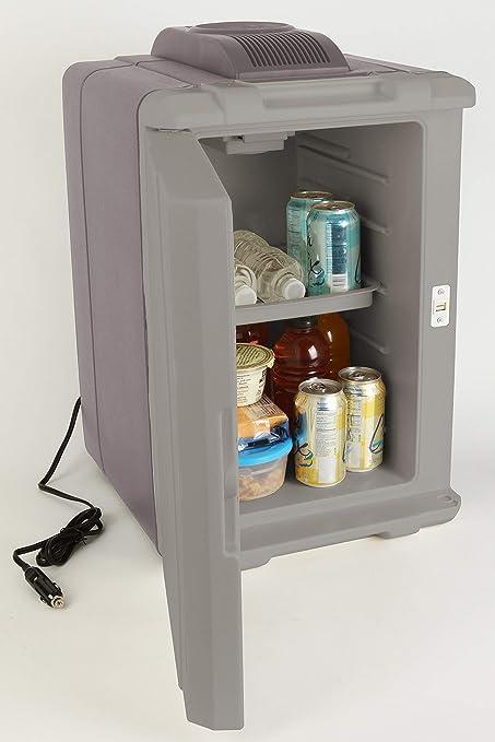 40-Quart powerchill Thermoelectric Cooler avec Powercord Noir//Argent Portable