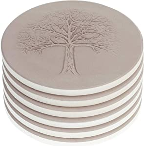 AlphaAcc Ceramic Coasters for Drinks Large Size 4.2